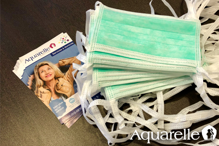 Aquarelle masques de protection